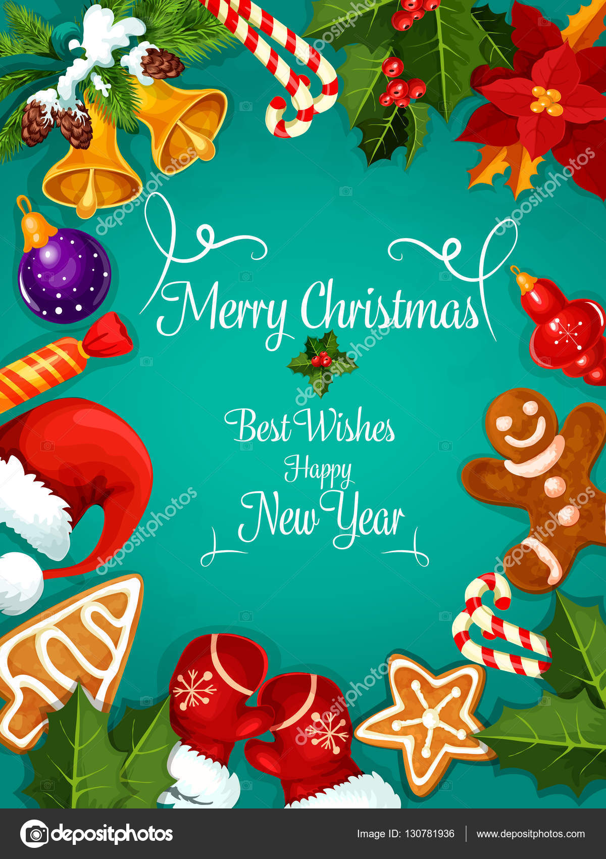 Merry christmas new year best wishes greeting stock vector merry christmas and new year greeting card poster best wishes congratulations fro new year and christmas holidays celebration m4hsunfo