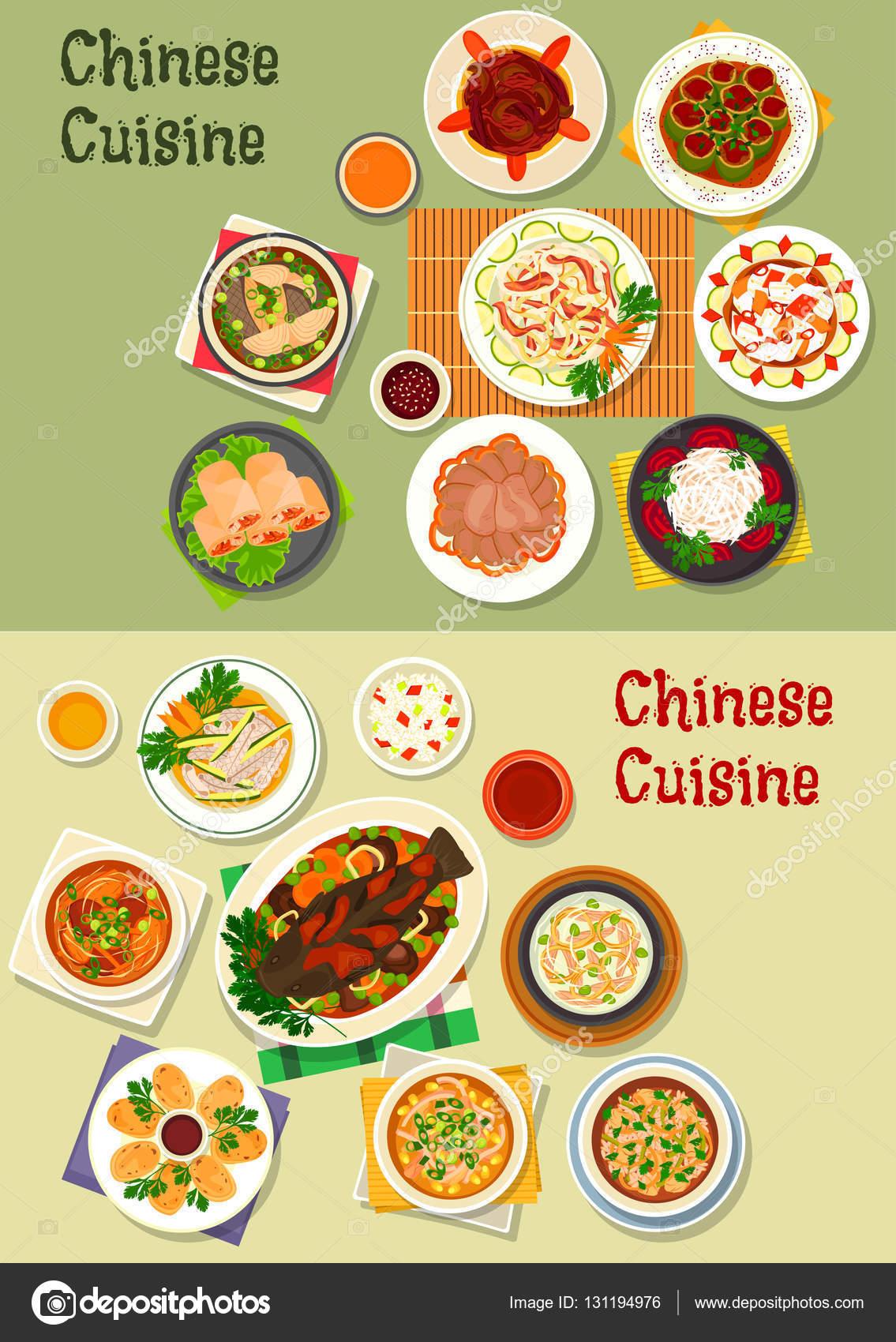 Chinesisches Symbol für orientalisches Menü-design — Stockvektor ...