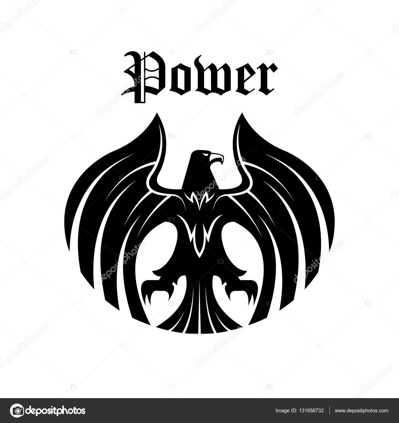 Black eagle round symbol for heraldic design stock vector black eagle round symbol for heraldic design stock vector biocorpaavc Images