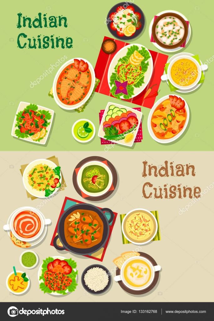 Platos de cocina India para el diseño de menú de restaurante ...
