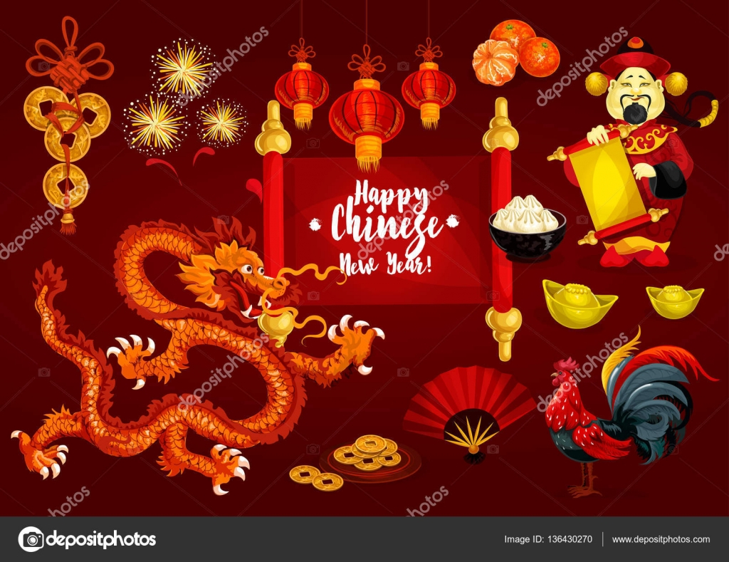 Chinese new year and spring festival greeting card stock vector chinese new year and spring festival greeting card stock vector kristyandbryce Choice Image