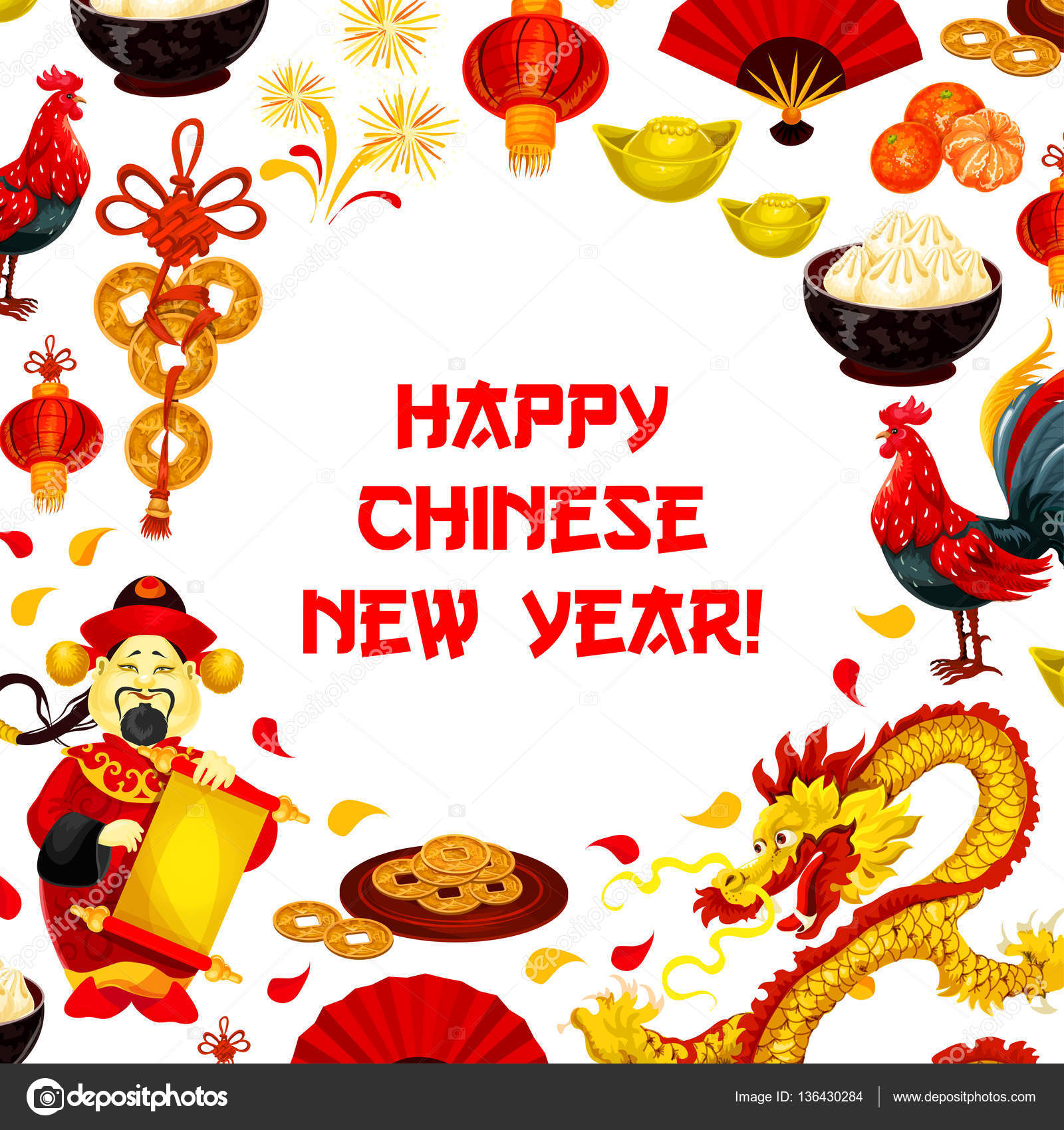 Chinese new year poster for greeting card design stock vector chinese new year poster for greeting card design stock vector m4hsunfo