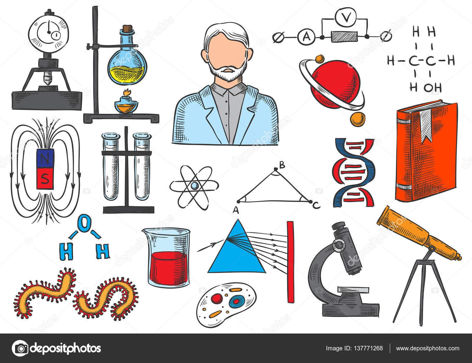 Ciencia Elementos Vectoriales Dibujo Iconos