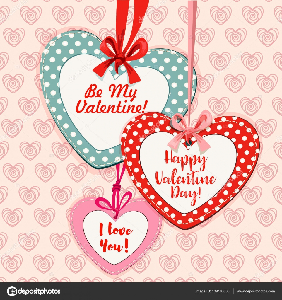 Valentine day heart shaped greeting card design stock vector valentine day heart shaped greeting card design stock vector m4hsunfo