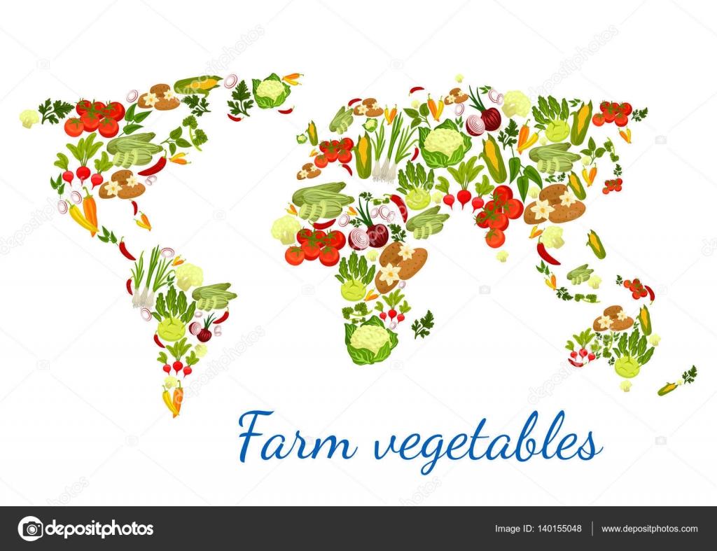 Vegetables world map vegetarian vector veggies stock vector vegetables world map vegetarian vector veggies stock vector gumiabroncs Images