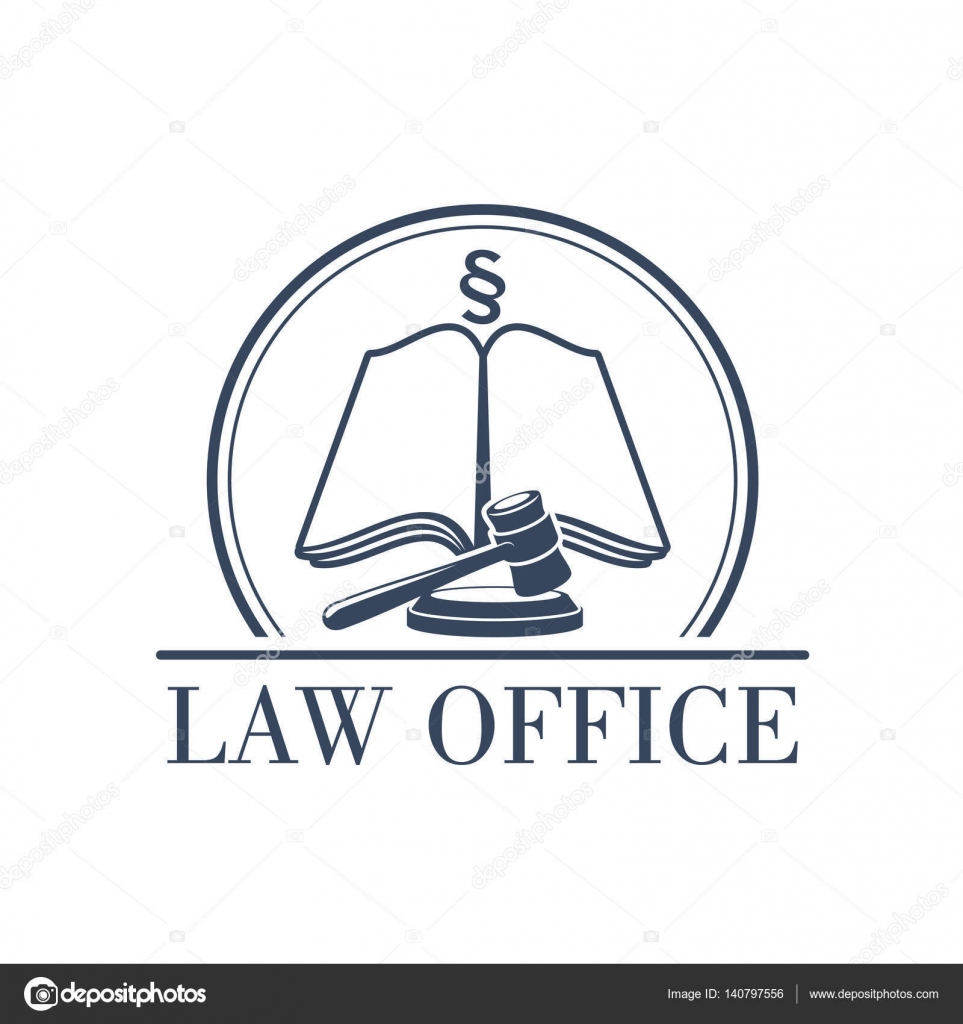 Law office vector legal icon of gavel and code stock vector legal office or center icon with symbol of judge gavel justice law code silcrow section sign or paragraph on open book lawyer or advocate emblem for biocorpaavc Images