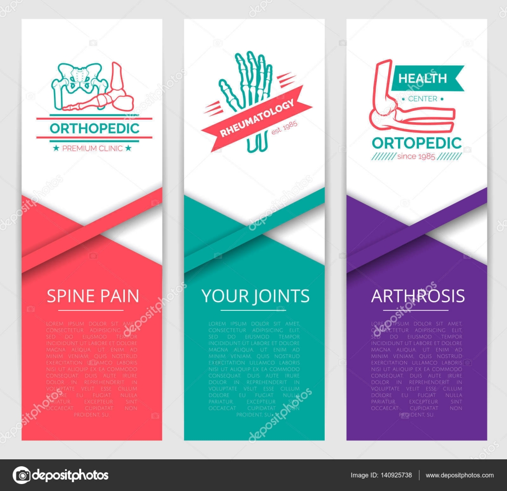 f3c1066a22b5 Design de modelo de banner de clínica médica de diagnóstico — Vetores de  Stock