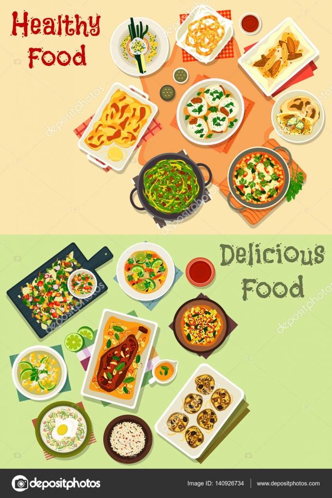 Icono de la cocina India para diseño de menú de cena — Vector de ...