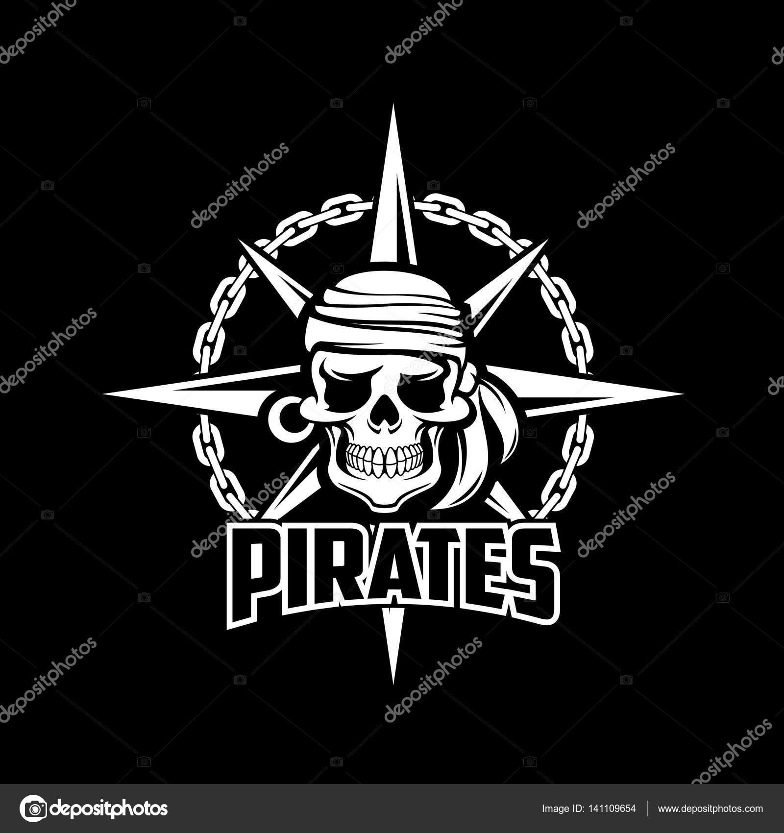pirates cr ne symbole noir vector drapeau ou une affiche image vectorielle seamartini 141109654. Black Bedroom Furniture Sets. Home Design Ideas