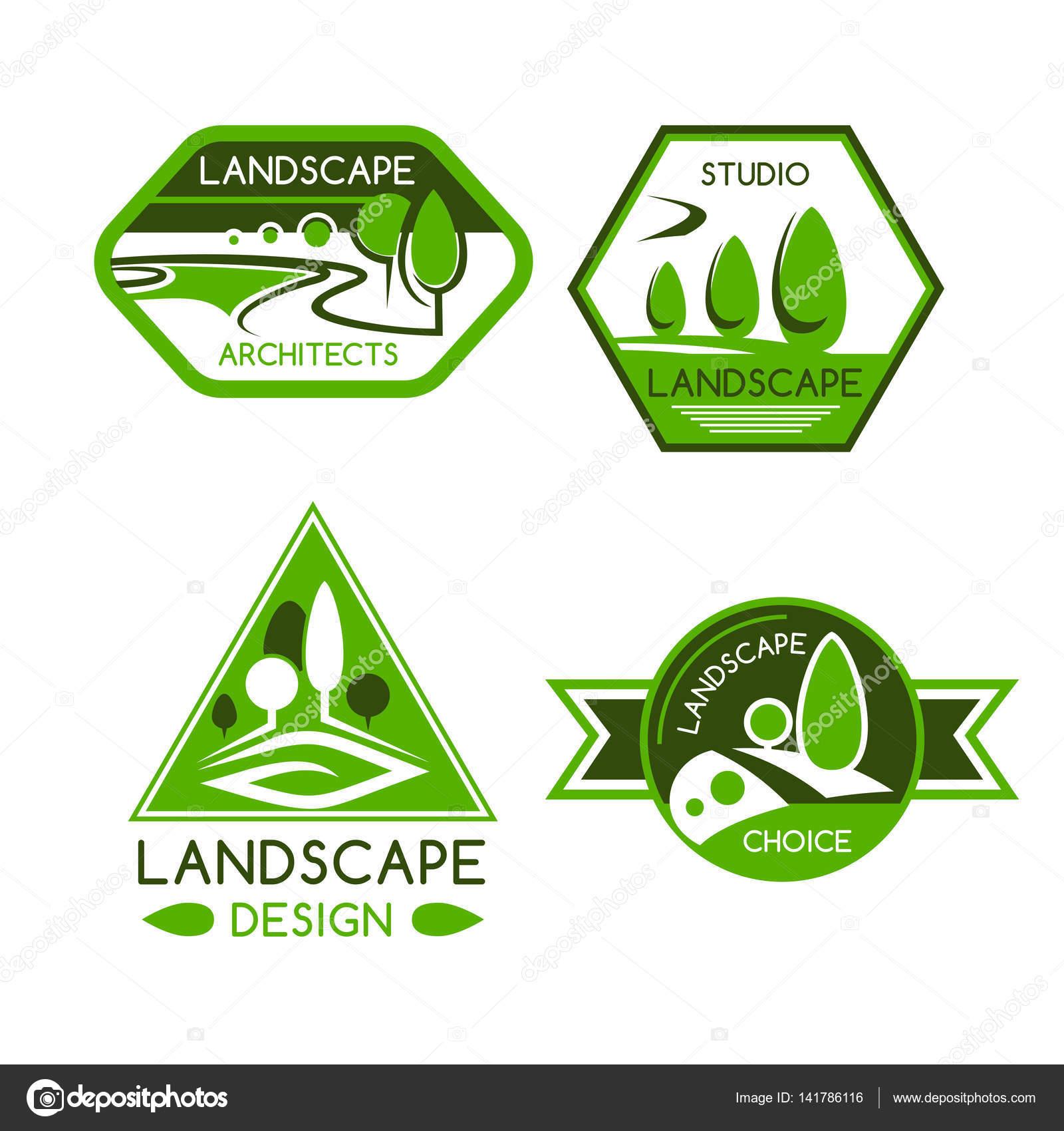 Emblema da natureza paisagismo design de servi os for Servicio de jardineria df
