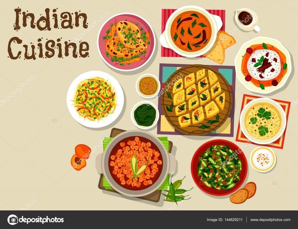 Icono de menú de cena de cocina India para diseño — Vector de stock ...