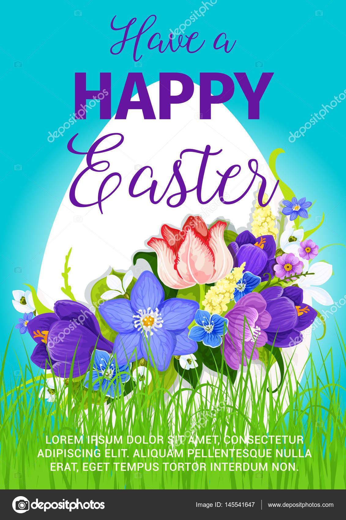 Happy Easter Egg Gruß Poster-Vektor-design — Stockvektor ...