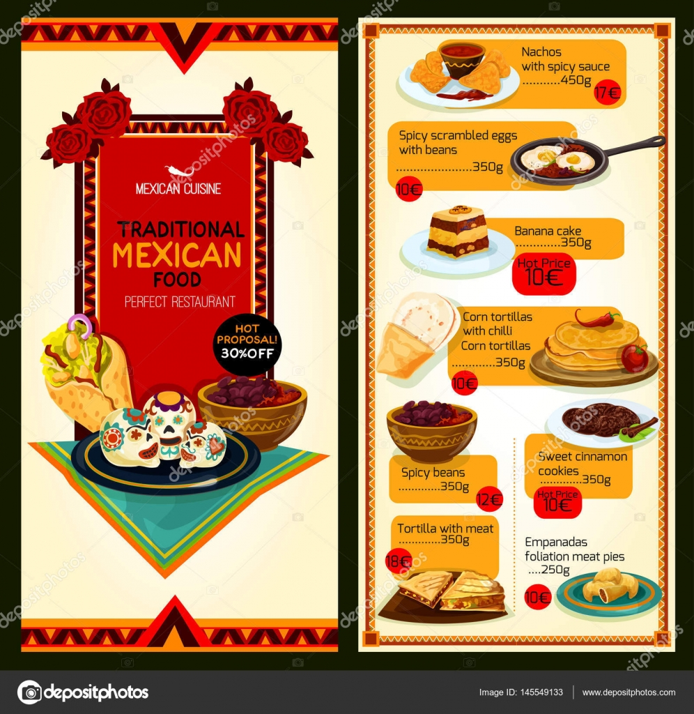 Men de restaurante mexicano cocina vector vector de for Stock cuisine saint priest