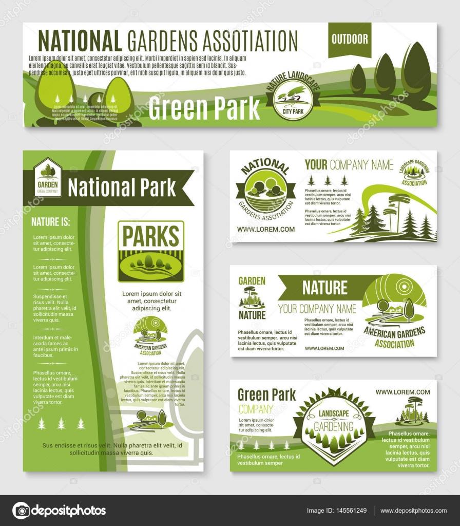 Natura Ogrodnictwo Lub Zielony Firmy Szablony Wektor Grafika