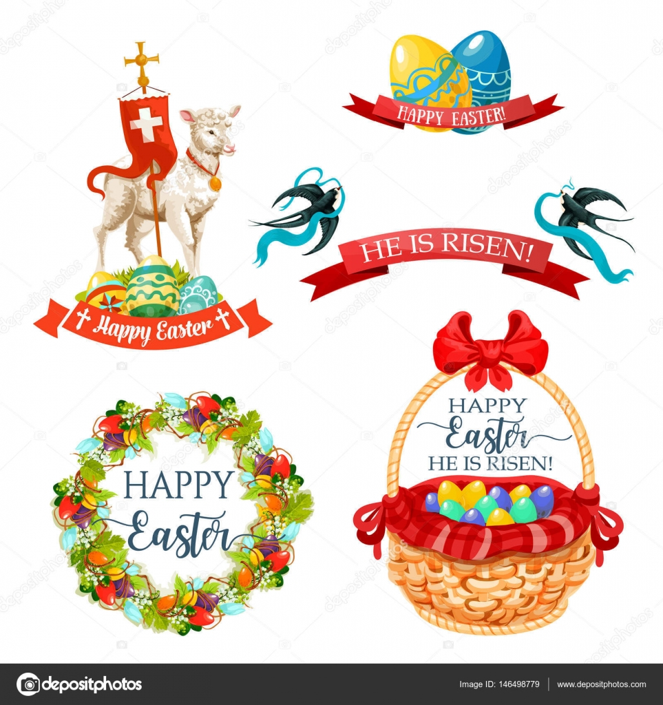 Vector icons and paschal symbols for easter design stock vector vector icons and paschal symbols for easter design stock vector 146498779 biocorpaavc