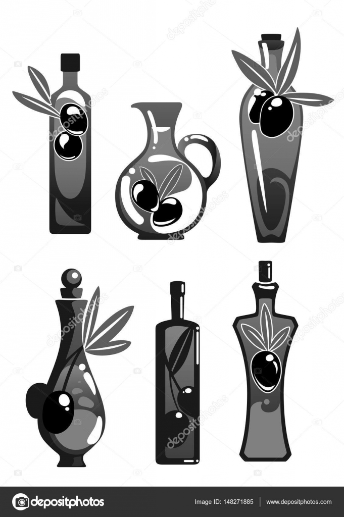 Olive oil bottles vector isolated icons set stock vector olive oil bottles vector isolated icons set stock vector buycottarizona