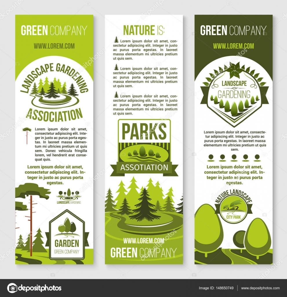Garten-und Landschaftsbau sowie Eco Park Banner Vorlage ...