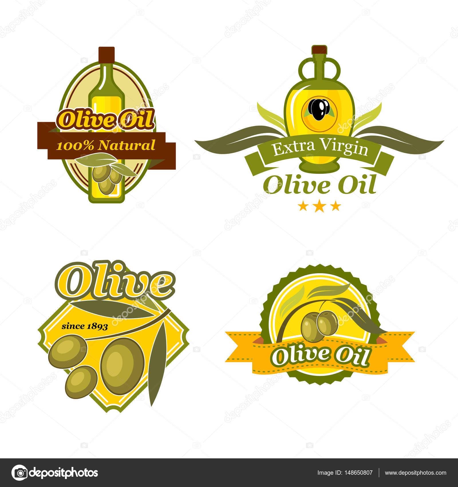 Olive oil emblem set for bottle label design stock vector olive oil emblem set for bottle label design stock vector buycottarizona