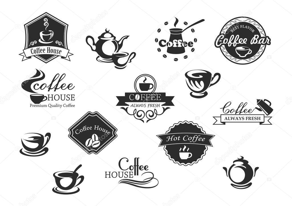 Tazas De Café Vector Iconos Para
