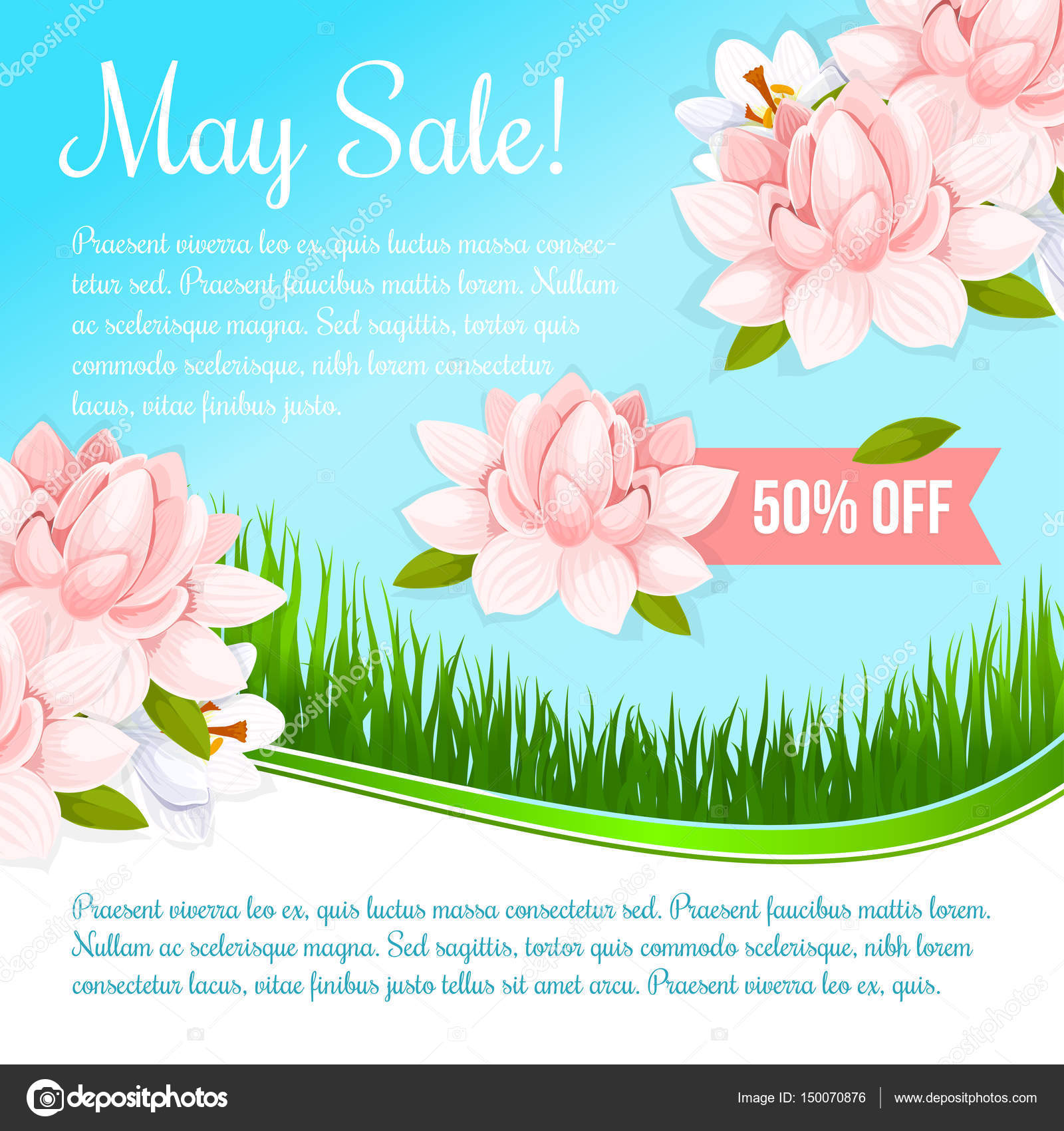 Spring holiday flowers discount sale vector poster stock vector spring holiday flowers discount sale vector poster stock vector izmirmasajfo