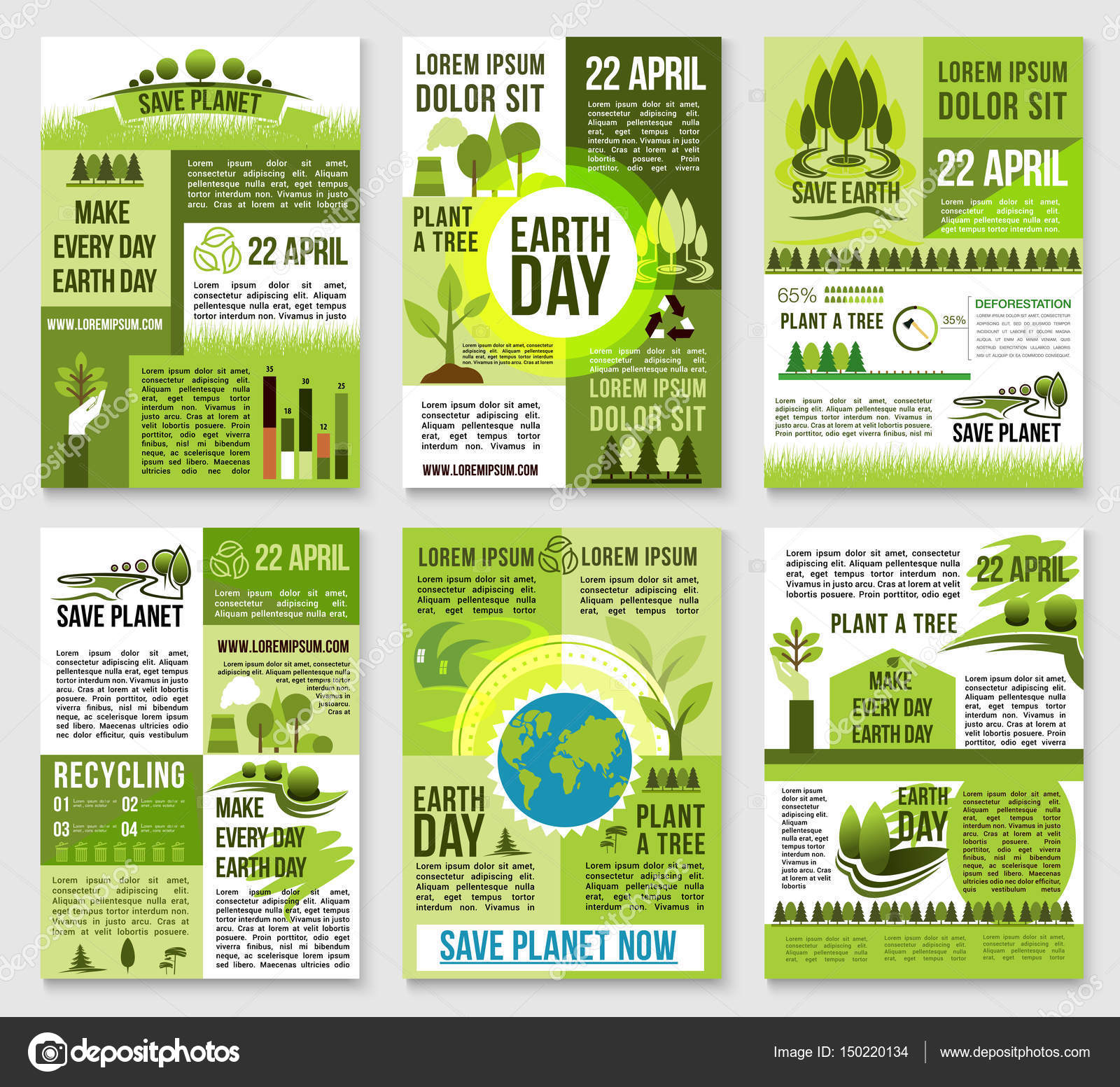 earth day poster template for ecology design  u2014 stock