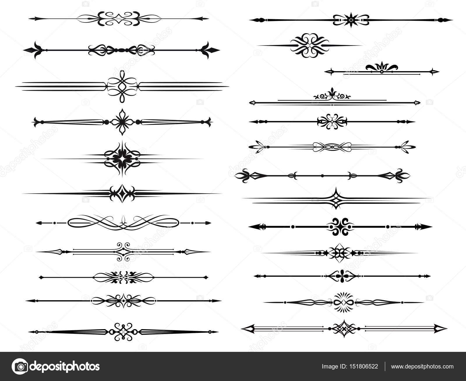 Frontera y divisor para diseño marco vintage — Vector de stock ...