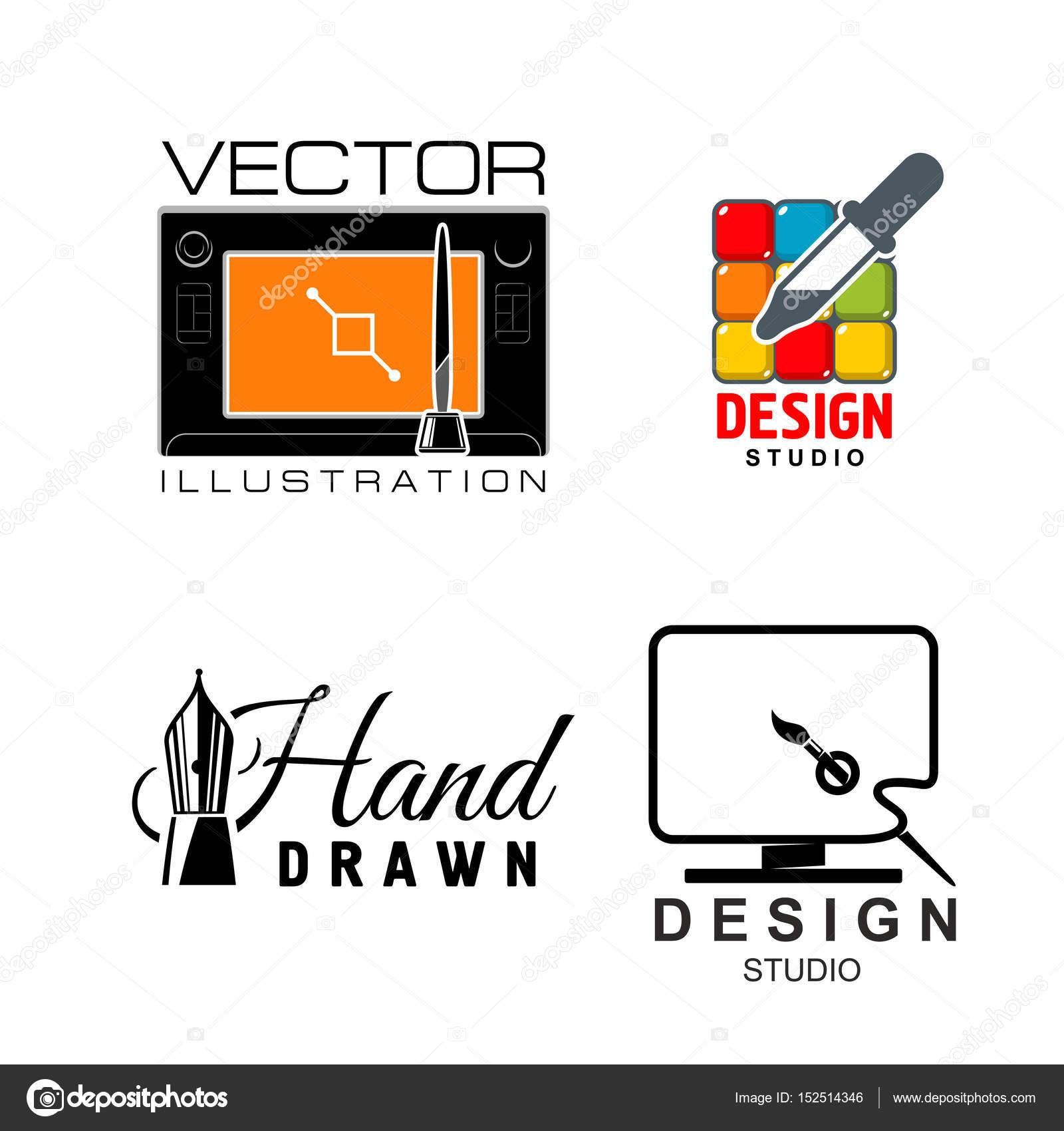 Grafik Design Studio | Vektor Icons Fur Grafik Design Oder Design Studio Stockvektor