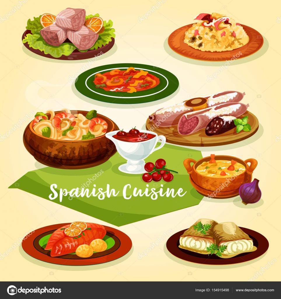 Icono de dibujos animados de platos de carne y pescado de la cocina ...