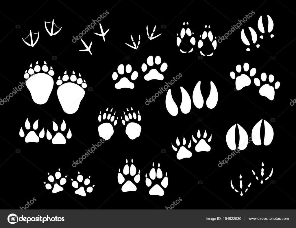 Icone di impronta del vettore di animali o uccelli zampe for Piani di fattoria sotto 2000 piedi quadrati