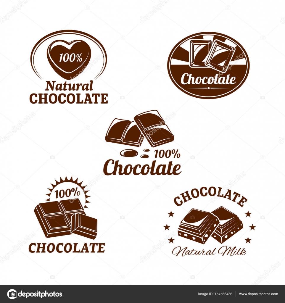 Iconos de vector para postres de chocolate — Vector de stock ...