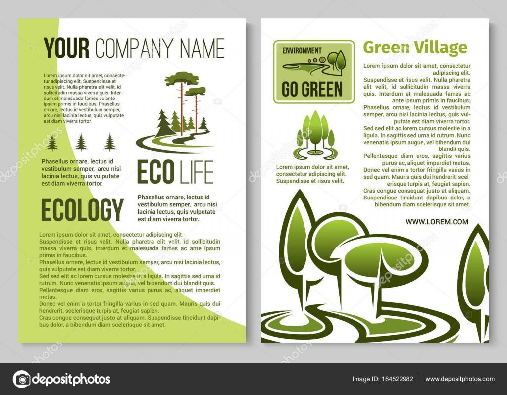 Projeto De Cartaz De Proteção De Ecologia E Meio Ambiente