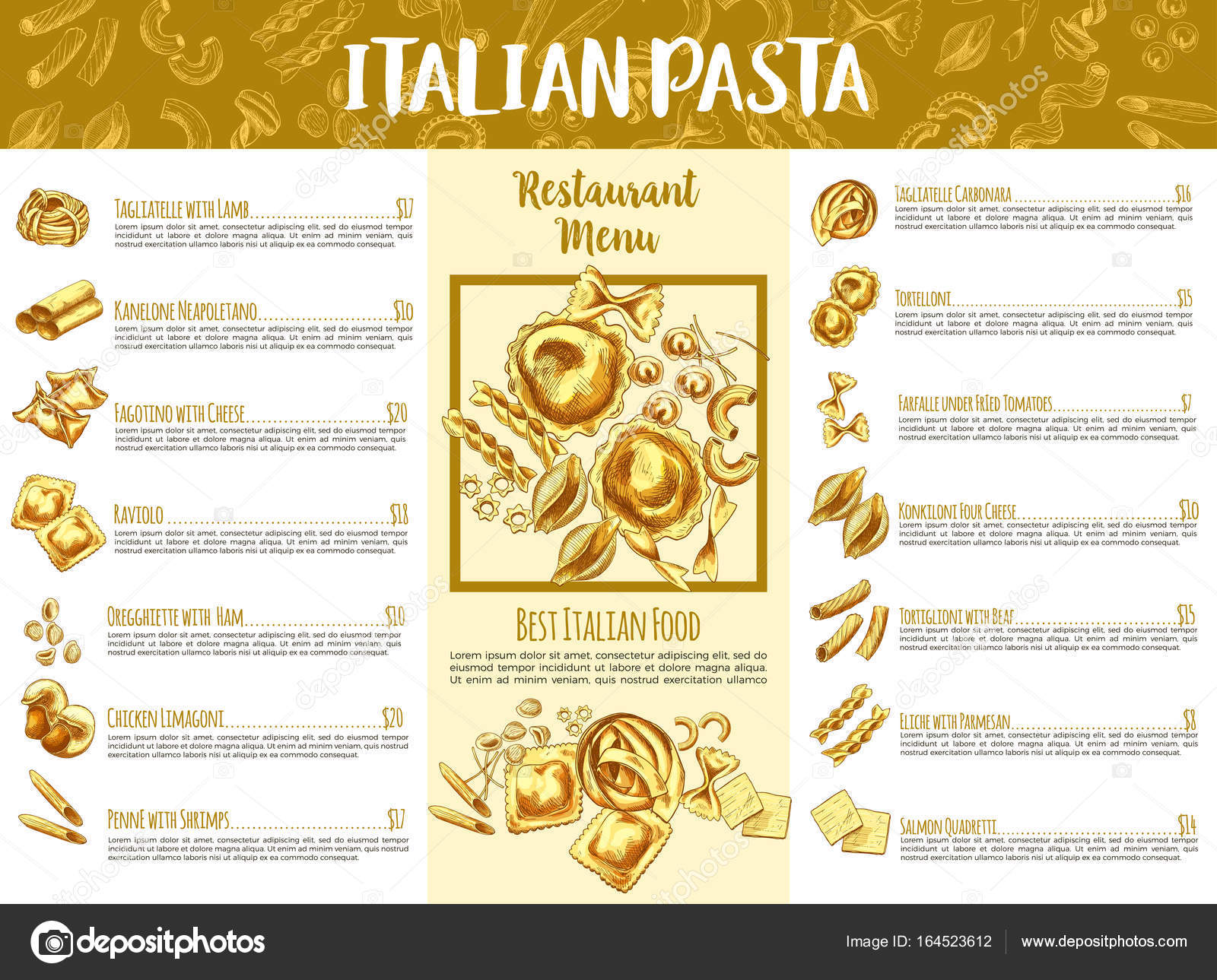 Italian Food Restaurant Names: Traditional Italian Food List