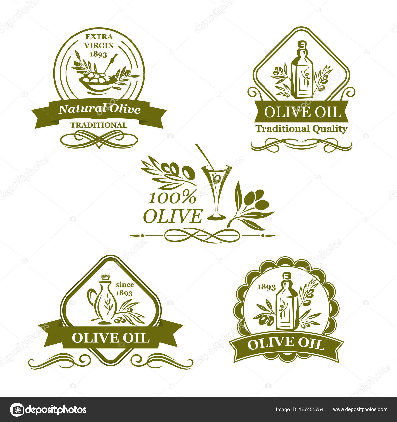Olive oil bottle and olives vector icons stock vector olive oil bottle and olives vector icons stock vector buycottarizona