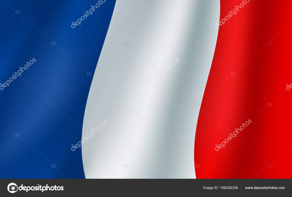 Vector 3d Flag Of France French National Symbol Stock Vector
