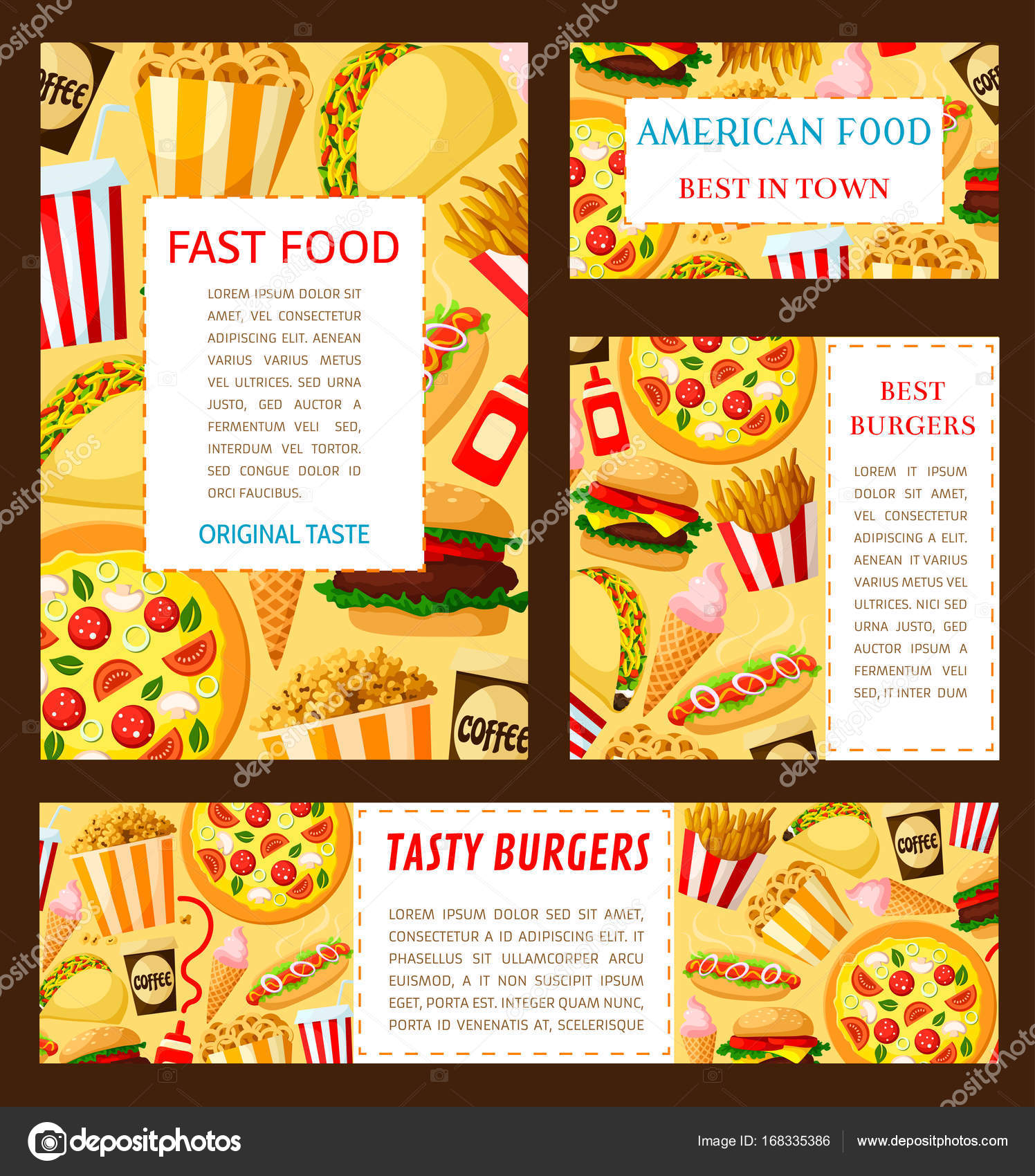 vector fast food restaurant posters templates stock vector