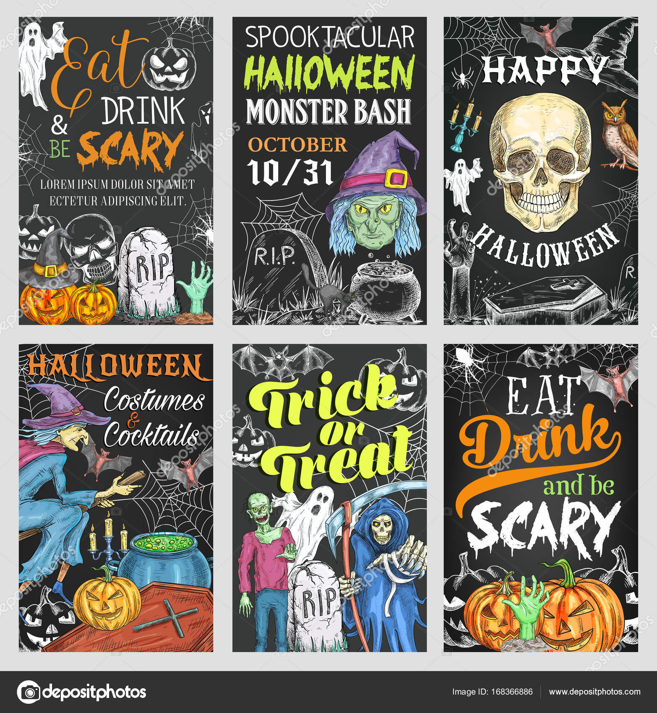 Halloween Feiertag Süßes oder Saures party banner — Stockvektor ...
