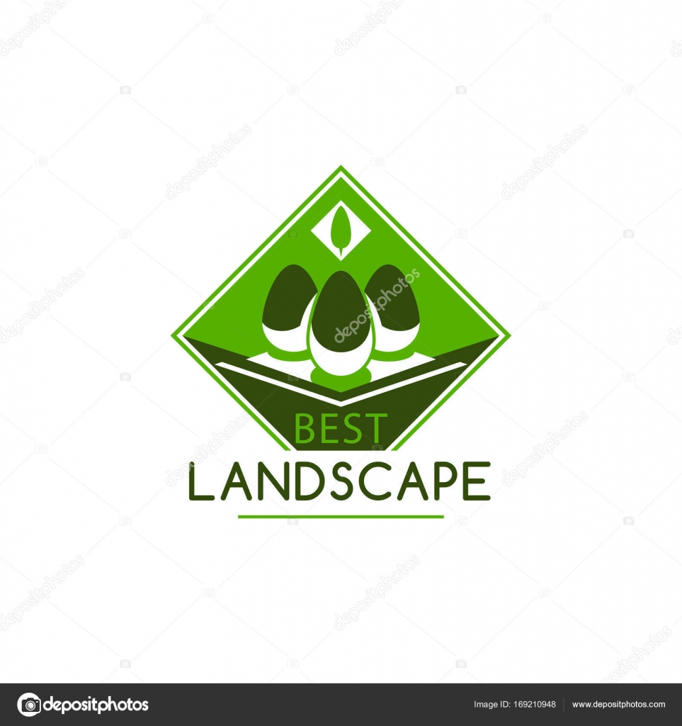 Best Landscape And Gardening Design Company Icon Template. Vector Isolated  Ecology Trees Forest, Gardens Or Parklands Squares And Woodlands For  Planting Or ...