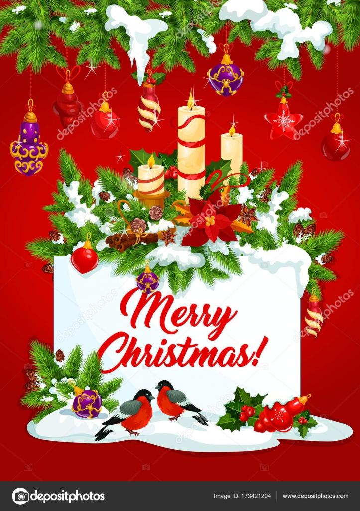 Weihnachten Wunsch.Frohe Weihnachten Urlaub Wunsch Vektor Grußkarte Stockvektor