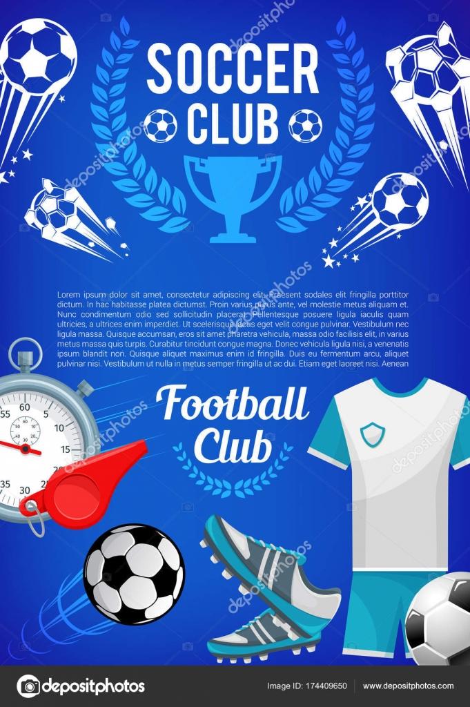 b43448842 Banner de clube de esporte futebol com bola de futebol