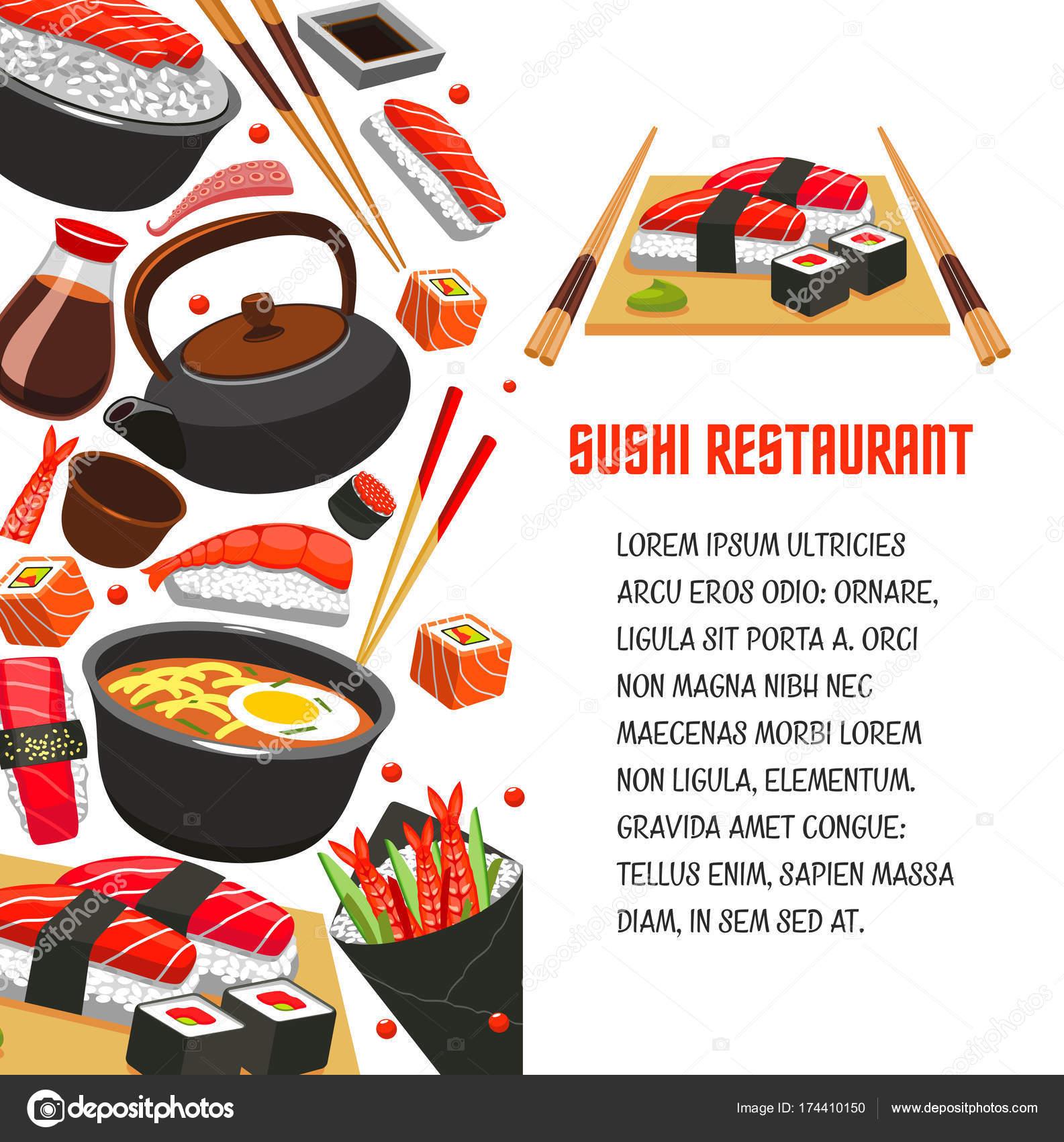 Sushi ristorante poster per progettazione di cibo for Progettazione di edifici online gratuita