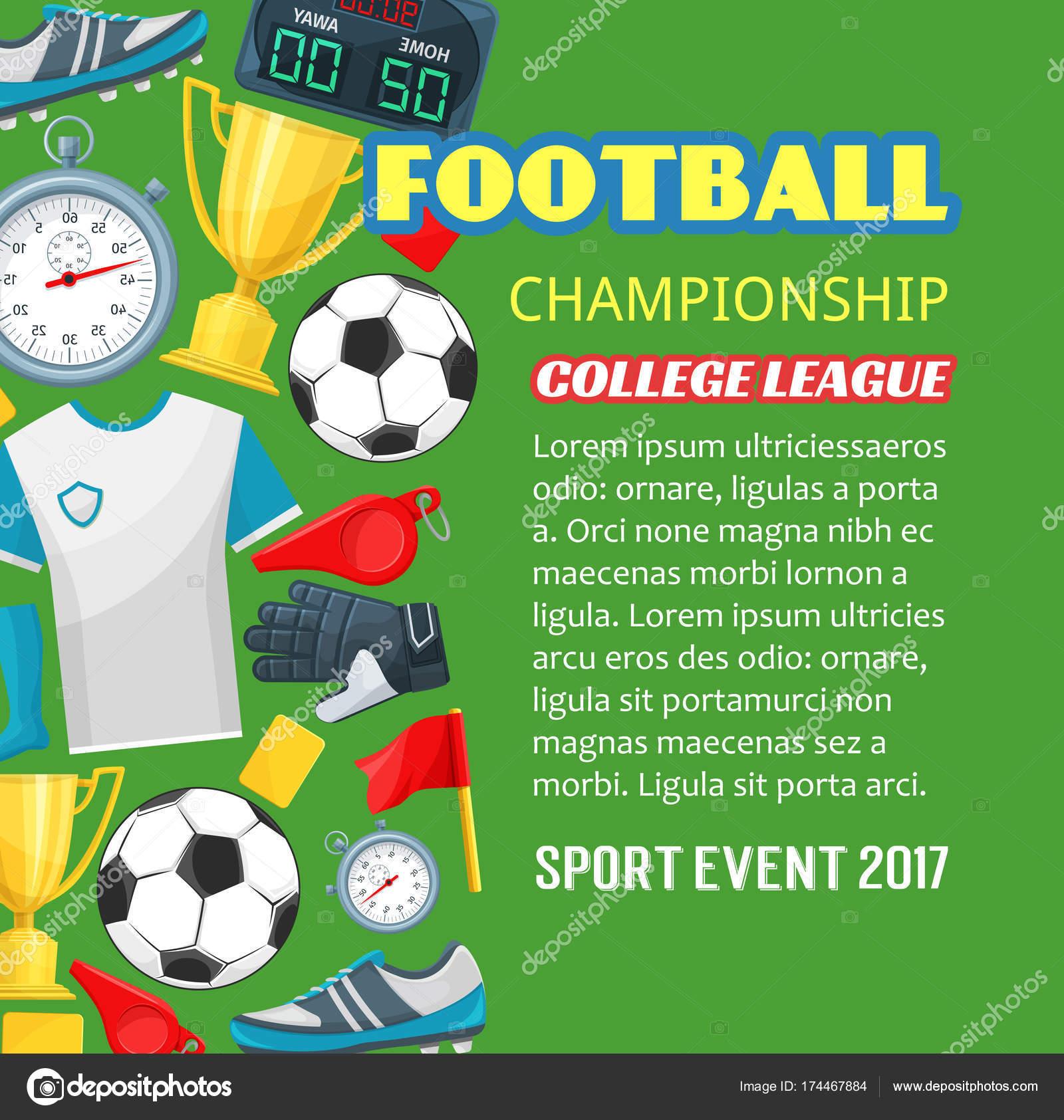 Fussball Wm Plakat Des Fussball Sport Spiel Stockvektor