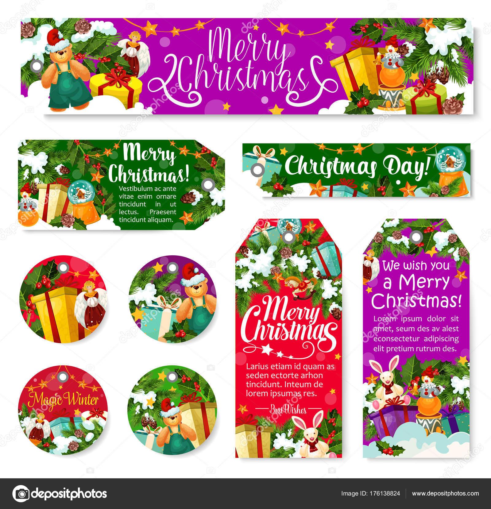 Weihnachten Winter Urlaub Tag Geschenk zum neuen Jahr — Stockvektor ...