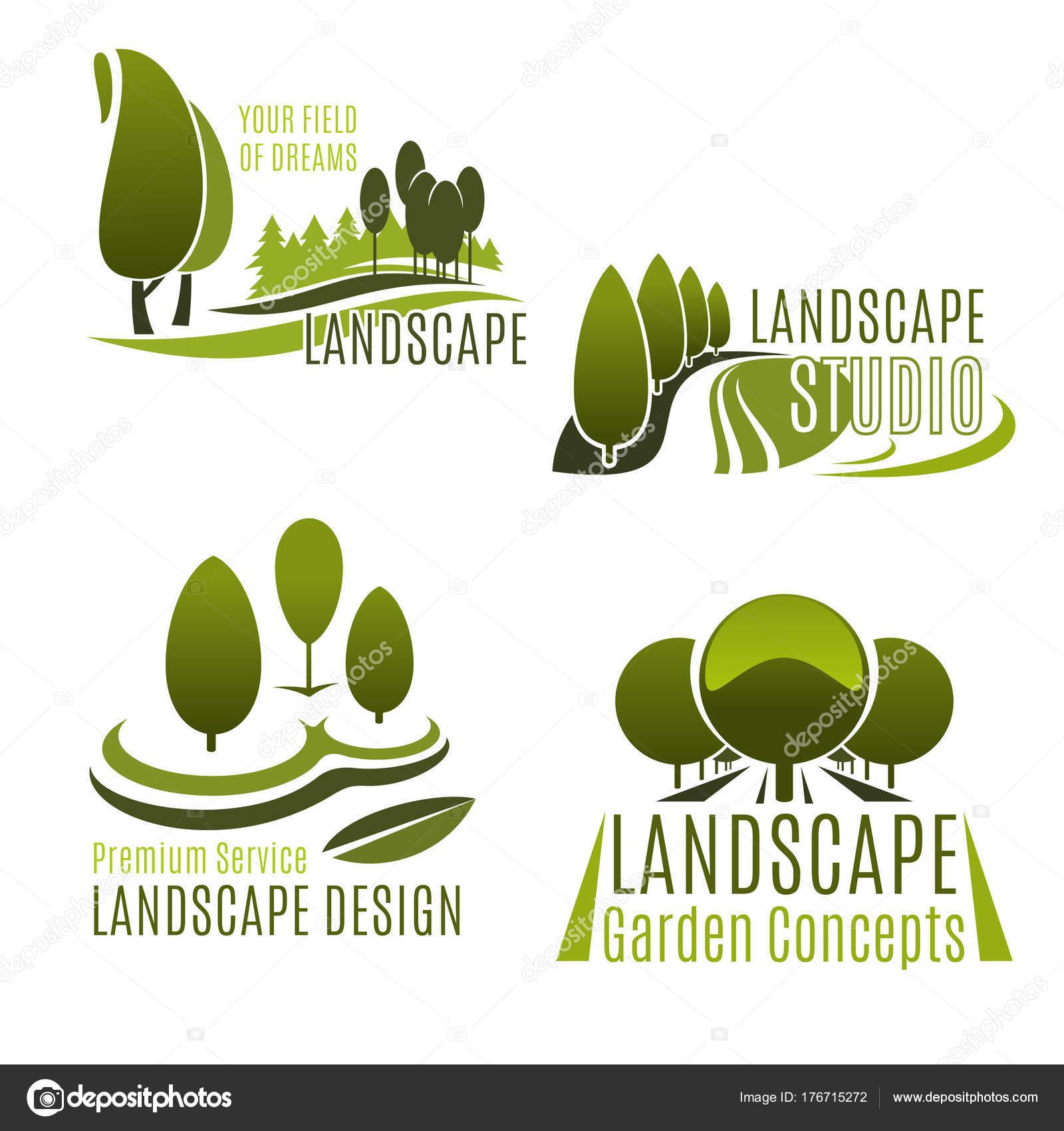 Architektura Krajobrazu Ikonę Usługi Firmy I Ogrodnictwo Grafika