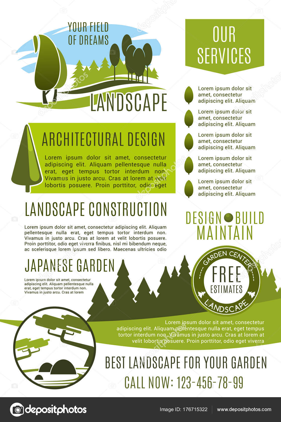 Landscape design company business banner template stock for Landscape design company