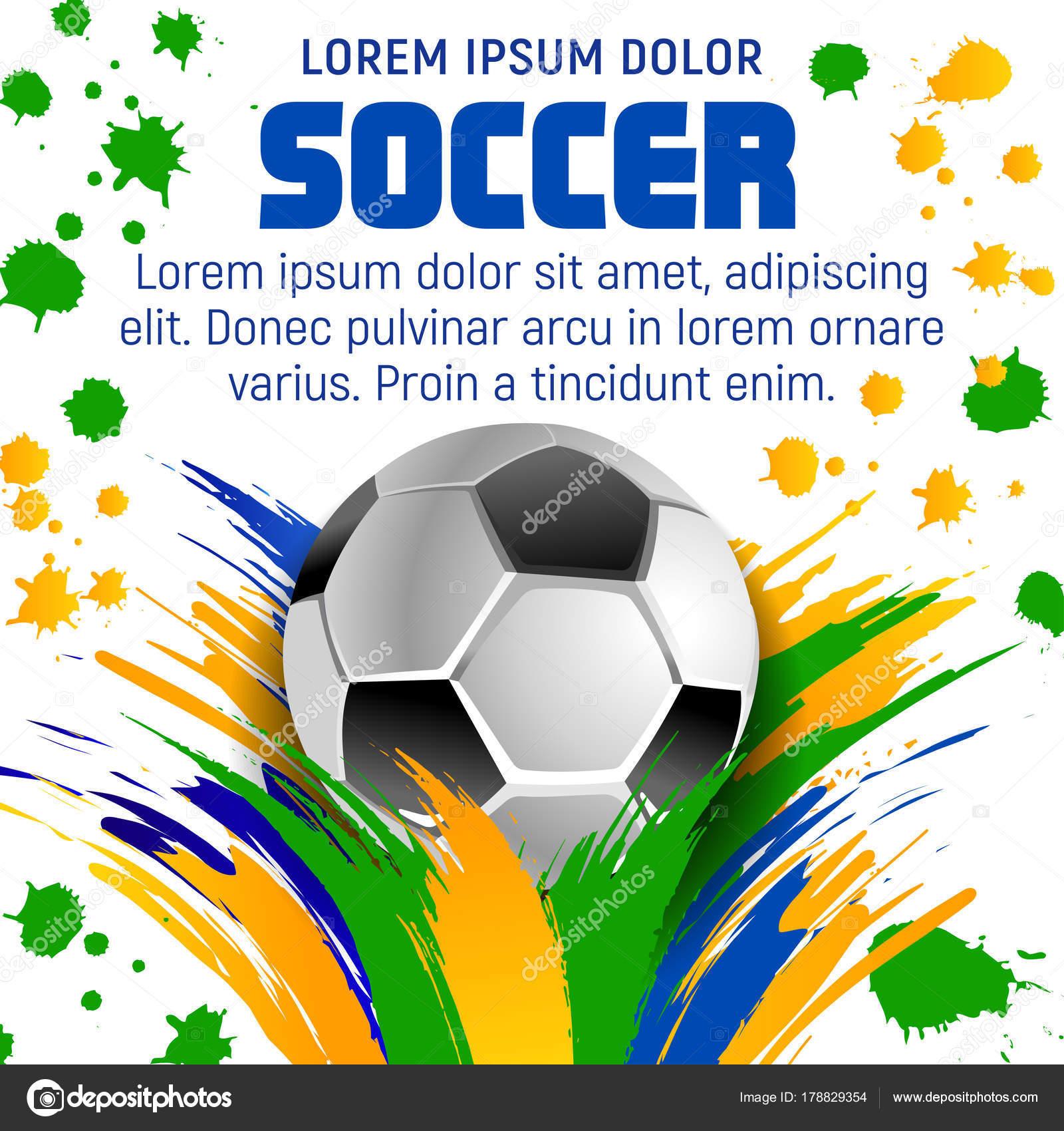 affiche de ballon football pour le tournoi de football sport image vectorielle seamartini. Black Bedroom Furniture Sets. Home Design Ideas
