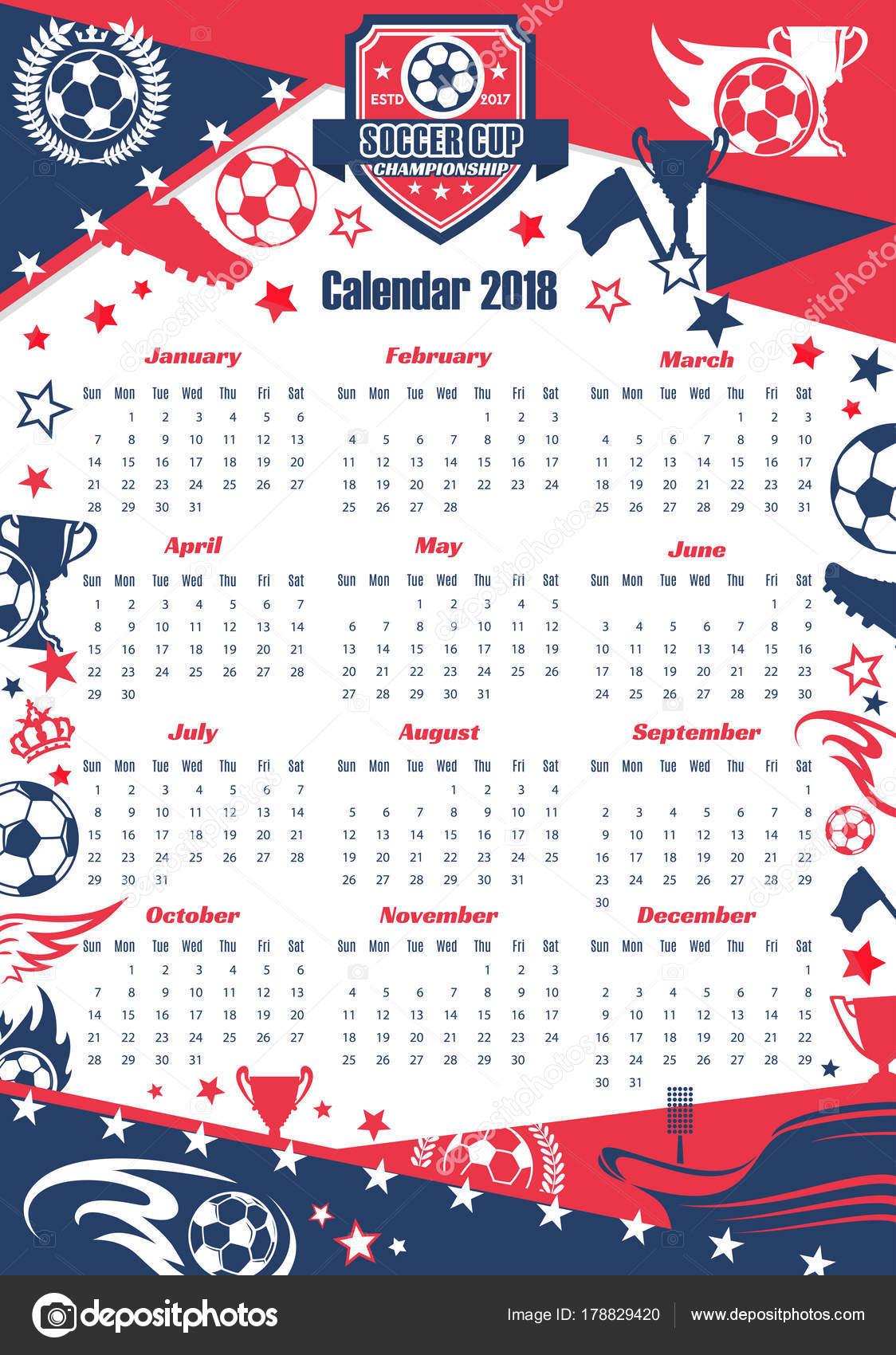 Calendario Calcio.Calendario Di Sport Di Calcio Della Coppa Di Calcio