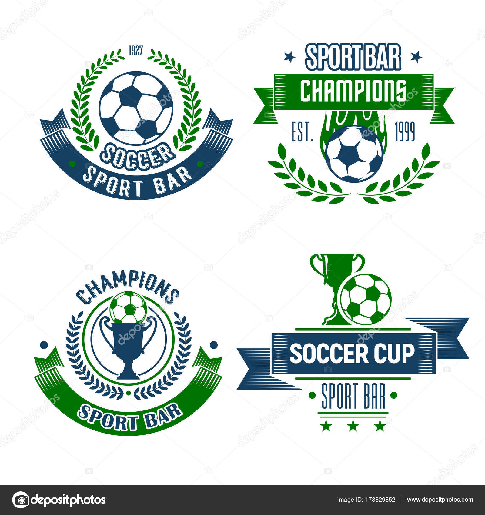 Soccer ball and trophy icon for football sport bar stock vector soccer ball with trophy icons for football sport bar soccer ball and winner cup isolated symbol for sport pub design framed with champion laurel wreath buycottarizona