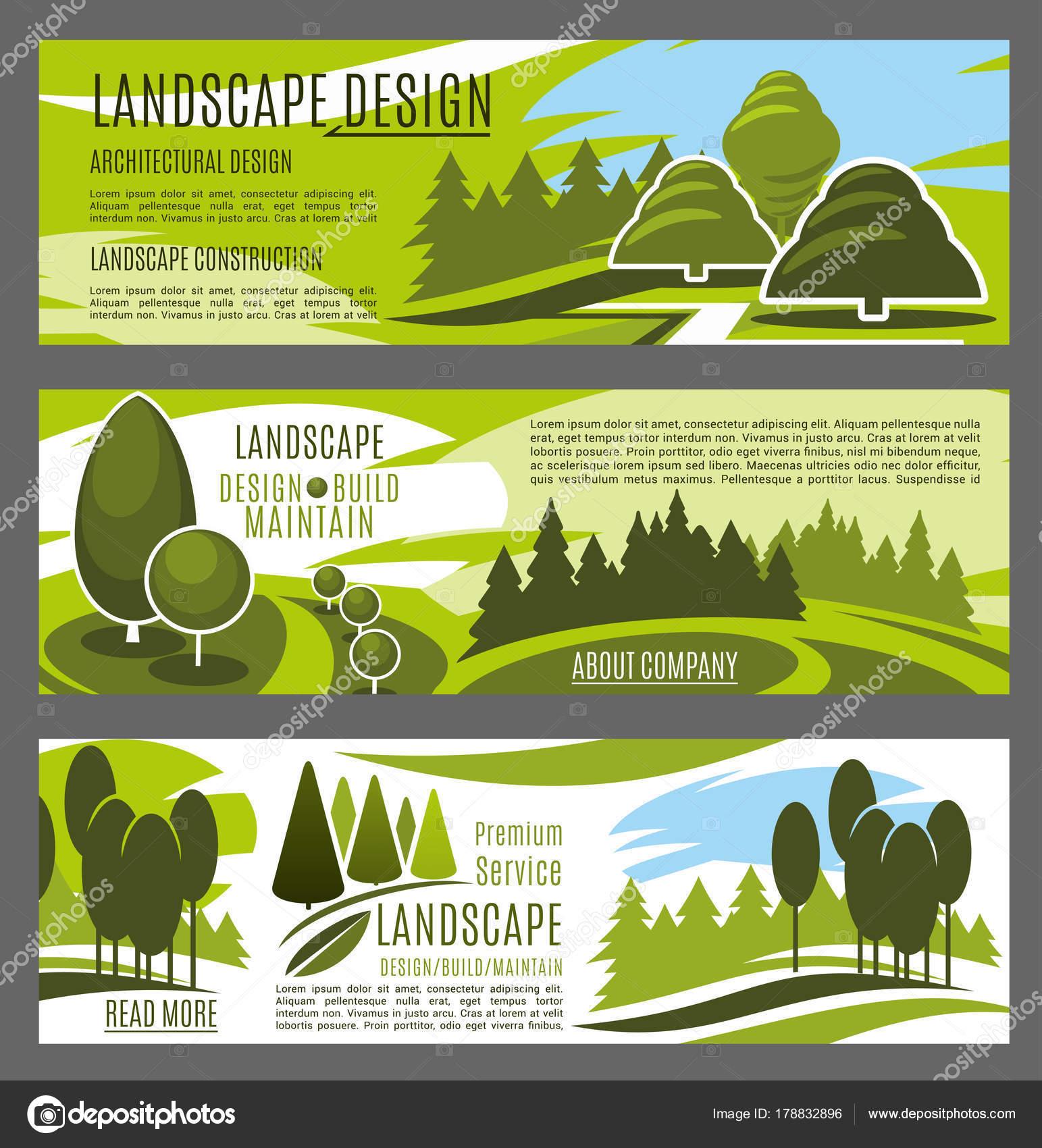 Diseño de banners servicio de paisajismo y jardinería — Archivo ...