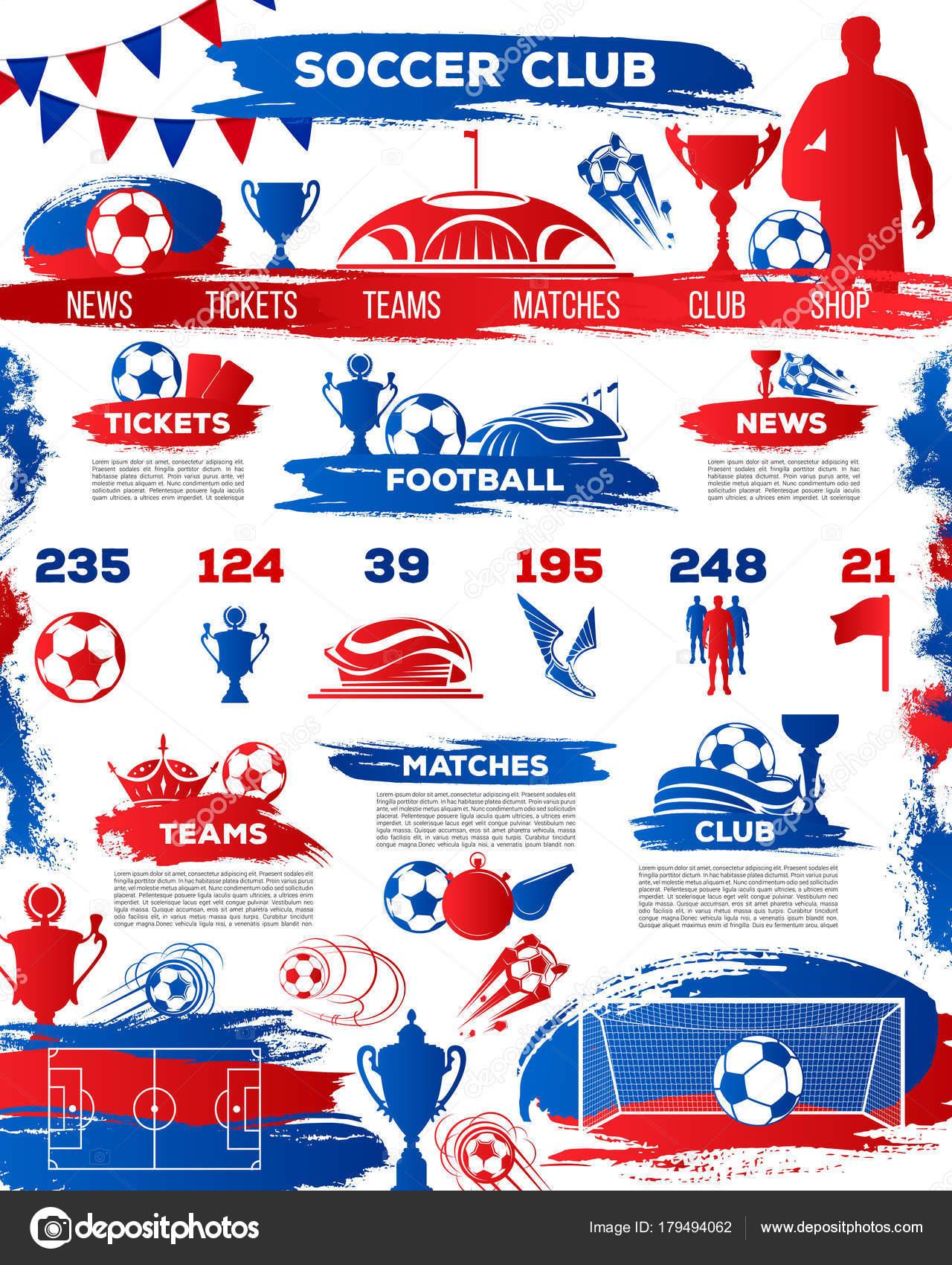 Fútbol, plantilla de página de aterrizaje de fútbol sport club ...