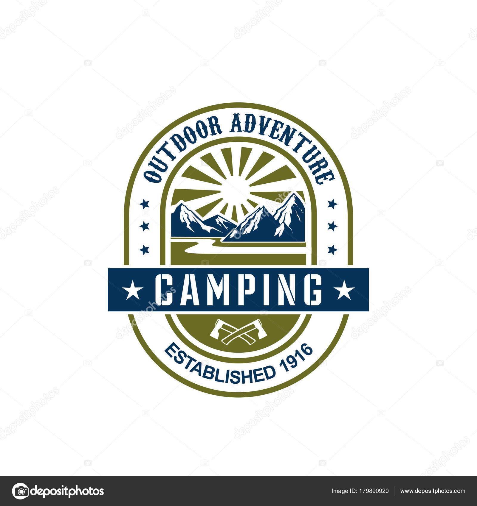 Vektor Icon Fur Camping Outdoor Abenteuer Stockvektor
